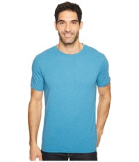 Prana R Crew Tee River Rock Blue Men's Short Sleeve Pullover