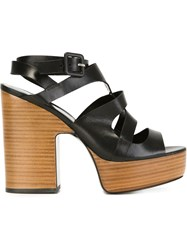 Pierre Hardy Chunky Heel Strappy Sandals Black