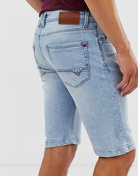 Voi Jeans Denim Shorts In Light Wash Blue