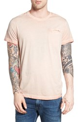 Dieselr Men's Diesel T Diego Jamy Burnout Pocket T Shirt Misty Rose