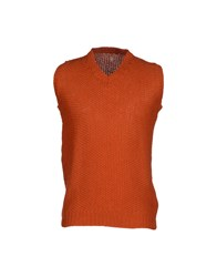 Asola Knitwear Jumpers Men Rust