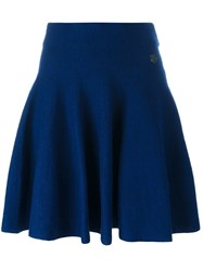 Kenzo 'Mini Tiger' Skater Skirt Blue