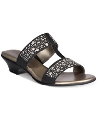 Karen Scott Eddina Embellished Slide Sandals Only At Macy's Women's Shoes Black