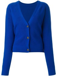Proenza Schouler Button Back Cardigan Blue