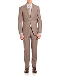 Pal Zileri Two Button Wool Suit Tan