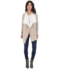 Culture Phit Tamara Double Faced Cardigan Tan Ivory Women's Sweater Multi