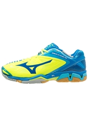 Mizuno Wave 3 Handball Shoes Neon Yellow Directoire Blue Blue Atoll