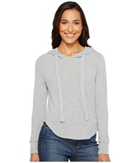Lna Cara Hoodie Heather Grey Women's Sweatshirt Gray