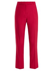 Etro Violante Straight Leg Stretch Cady Trousers Pink