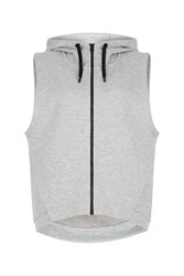 Ivy Park Logo Quilted Zip Through Hoodie By Light Grey M