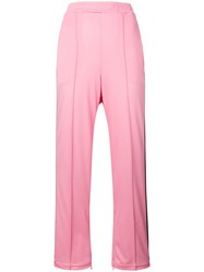 Ganni Striped Track Pants Pink And Purple