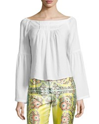 Nanette Lepore Island Party Peasant Top White