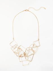 John Lewis Geometric Statement Necklace Gold