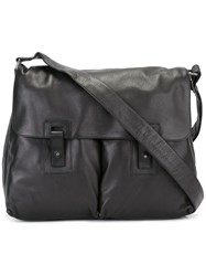 Orciani Pocket Detail Messenger Bag Black