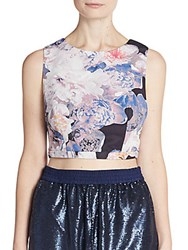 Finders Keepers Path Of Rhythm Floral Print Crop Top