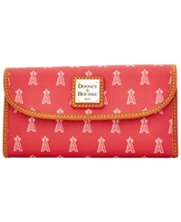 Dooney And Bourke Los Angeles Angels Of Anaheim Mlb Large Continental Clutch Red