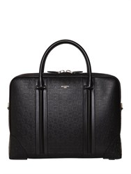 Givenchy Logo Embossed Leather Briefcase