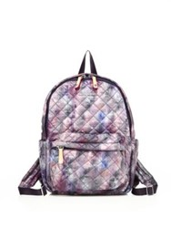 M Z Wallace Small Metro Pixel Print Quilted Nylon Backpack Pixel Print Oxford
