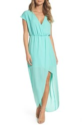 Charles Henry Women's Faux Wrap Woven Maxi Dress