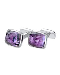 Loaf Rose Cut Amethyst Cuff Links Men's Suzanne Felsen