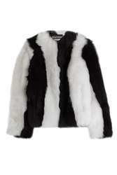 Boutique Moschino Two Tone Sheepskin Jacket Multicolor