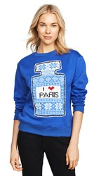 Michaela Buerger I Love Paris Sweatshirt Electric Blue