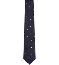 Tiger Of Sweden Polka Dot Tie Navy