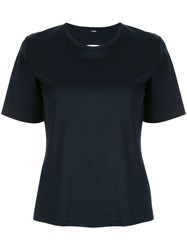Dion Lee Layered Back T Shirt Blue