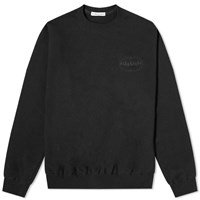 Flagstuff Embroidered Logo Crew Sweat Black