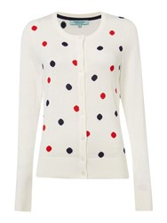 Dickins And Jones Polka Dot Cardigan Cream