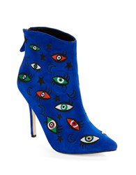 Isa Tapia Juliette Suede Eye Booties Blue