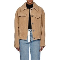 Off White C O Virgil Abloh Faux Shearling Oversized Jacket Sand