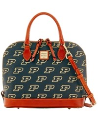 Dooney And Bourke Purdue Boilermakers Zip Zip Satchel Black