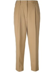 3.1 Phillip Lim Cropped Tailored Trousers Nude And Neutrals