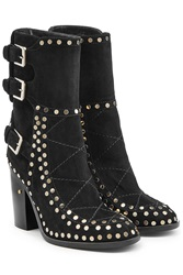Laurence Dacade Suede Gehry Biker Boots With Rivets Black