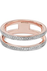 Monica Vinader Sinny Double Band Rose Gold Plated Diamond Ring
