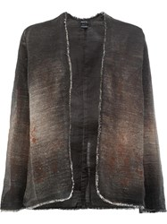 Avant Toi Open Fitted Jacket Brown