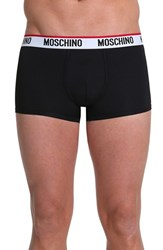 Men's Moschino Microfiber Trunks Black