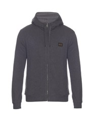 Dolce And Gabbana Hooded Cotton Cardigan Light Grey
