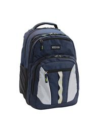 Kenneth Cole Reaction Deluxe Double Gusset Expandable Computer Backpack Blue