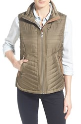 Women's Vince Camuto Faux Suede Trim Quilted Vest Caper Ginger