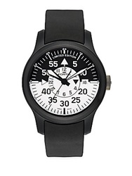 Fortis Flieger Cockpit Stainless Steel And Rubber Watch Black