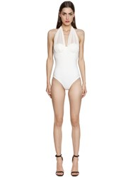 Gentryportofino Lycra And Silk Chiffon Bathing Suit