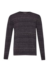 French Connection Men's Rocker Fair Isle Knit Jumper Blue