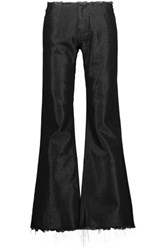 Marques' Almeida Frayed Metallic Denim Bootcut Jeans Black