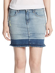J Brand Lela Denim Mini Skirt Drift Blue