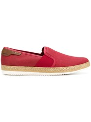 Geox Copacabana Slip On Shoes Red
