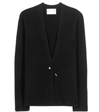 Jason Wu Aurora Cashmere And Wool Blend Cardigan Black