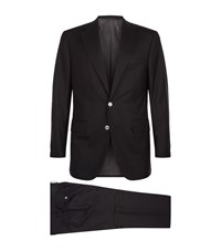 Stefano Ricci Single Breasted Suit Black