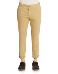 Brooks Brothers Red Fleece Flat Front Chino Pants Khaki